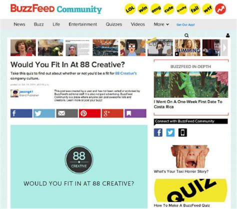 design quiz buzzfeed toronto marketing firm uses buzzfeed quiz to vet job