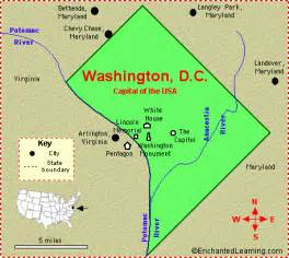 us map showing washington dc district of columbia washington d c facts map and