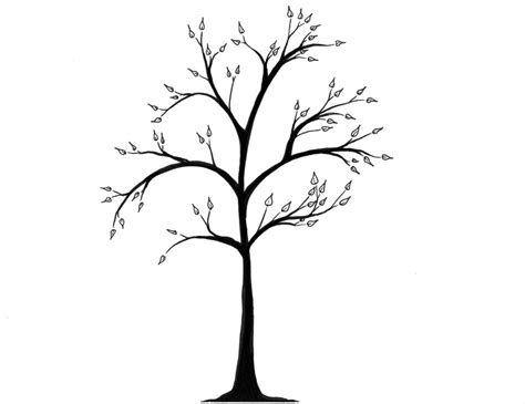 simple tree drawing simple tree outline cliparts co