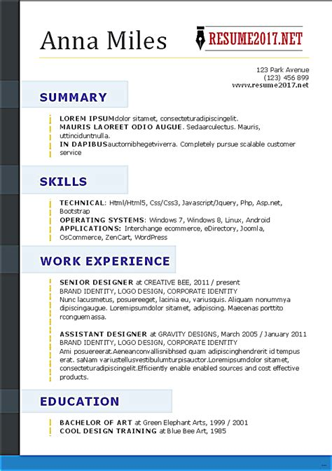 How Does A Resume Look by How Does Resume Look Studiootb