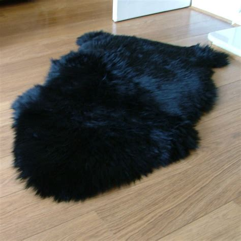 black sheepskin rug single black sheepskin rug