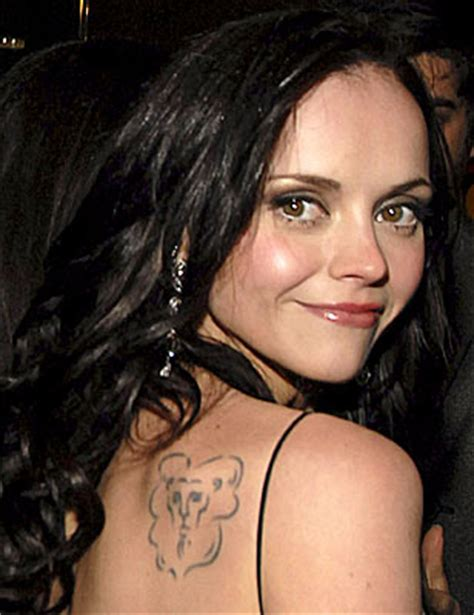 christina ricci tattoos the power of opposite signs the aquarius and the leo