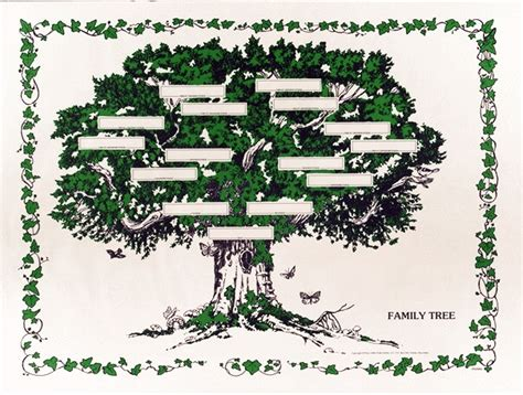 decorative family tree template decorative family tree templates images
