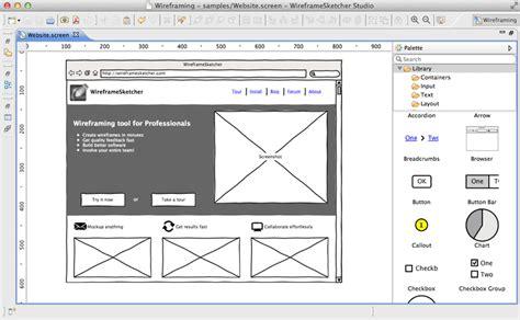 create website wireframes  mockups wireframesketcher