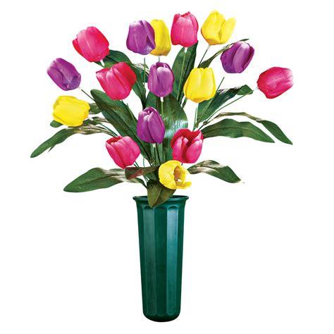 Tulips Arranged In Vase by Tulips Arrangement Memorial Vase Ebay