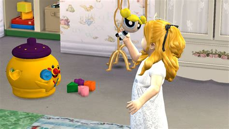 sims 4 custom content toddler sims 4 cc download powerpuff girls toy set for toddlers