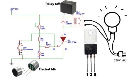 automatic light on off circuit how to make automatic switch on the light by voice or