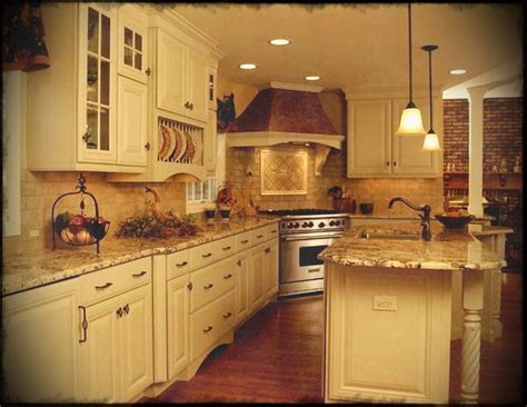 Country Kitchen Ideas White Cabinets Elegant French Red