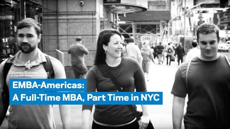 York Mba Part Time by Emba Americas Time Mba Part Time In Nyc