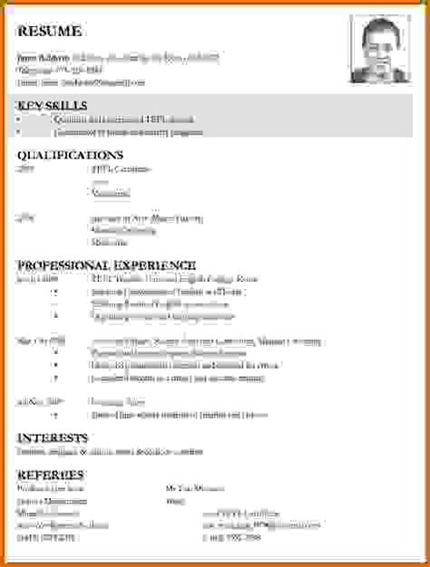 Resume Sles In Ms Word Pakistan Sle Cv For Teaching In Pakistan
