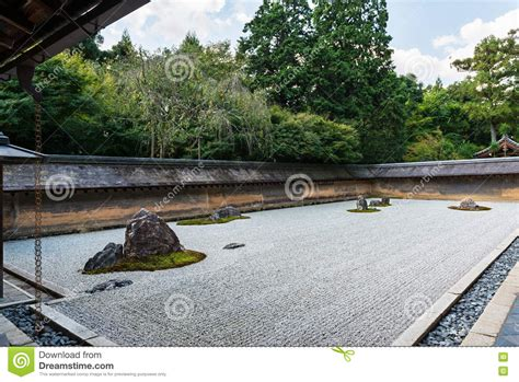 Rock Garden Kyoto Rock Garden At Ryoanji Temple In Kyoto Japan Stock Image Image 75792689