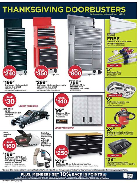 black friday tool cabinet deals sears black friday 2015 tool deals