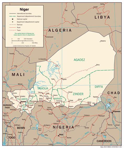 africa map niger political map of niger niger political map of niger
