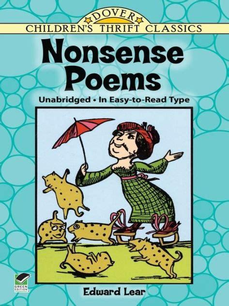 libro nonsense verse nonsense poems by edward lear nook book ebook barnes noble 174
