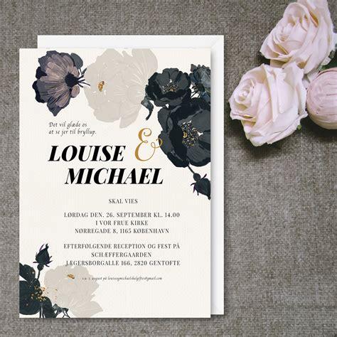 layout til invitation personligg 248 r dit bryllup med en flot invitation fra www