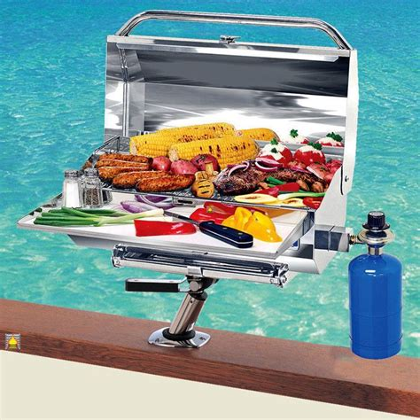 magma a10 803 chefsmate gas stainless steel barbecue bbq - Magma Boat Grill Recipes