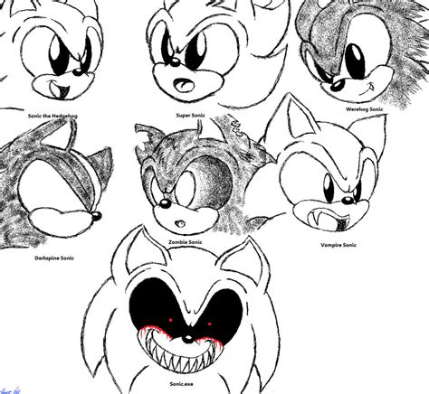 zombie sonic coloring page darkspine sonic coloring pages the many forms of sonic the