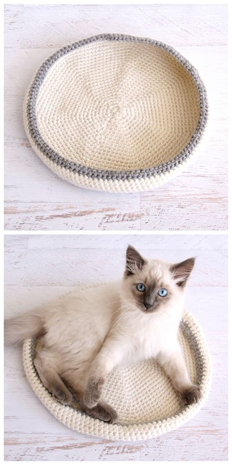 free crochet pattern cat bed crocheted cat bed pattern allcrafts free crafts update