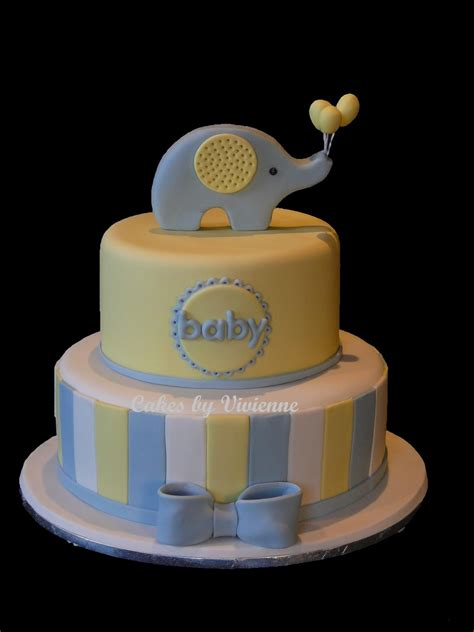 Elephant Baby Shower Balloons by Elephant With Balloons Baby Shower Cake Cakecentral