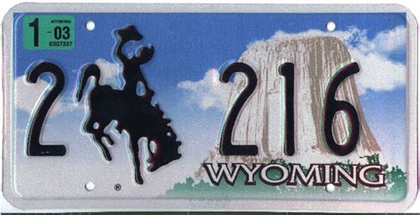 Wyoming Vanity Plates by Wyoming Y2k