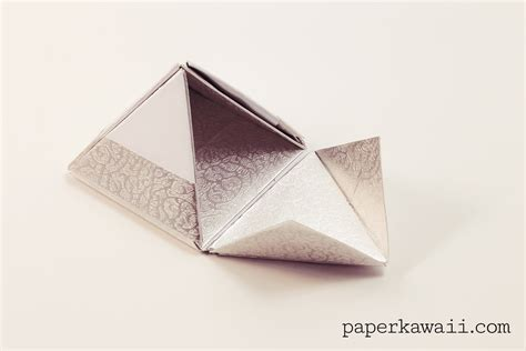 Make A Pyramid Out Of Paper - modular origami pyramid box tutorial paper kawaii