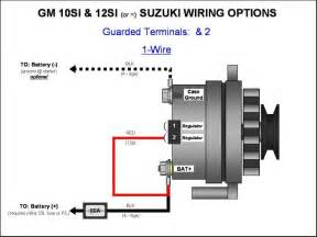 187 gm 10si 12si alternator wiring 1 wire gm
