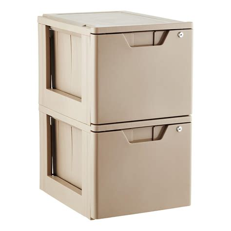 Stackable File Drawers by Taupe Stackable Locking File Drawer The Container Store
