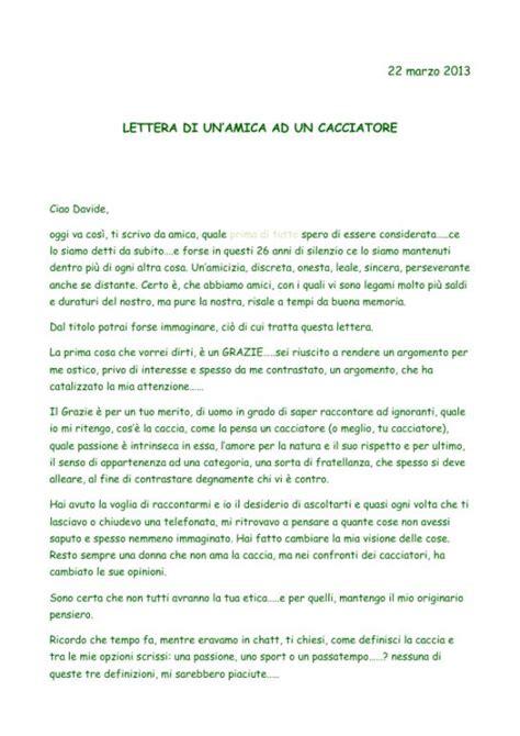 lettere d amicizia per un amico speciale lettera di un amica a un cacciatore pagina 3