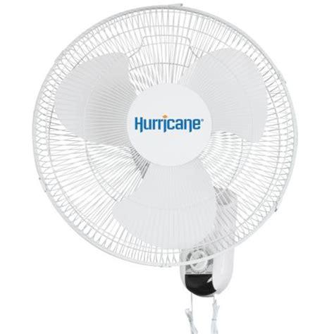 hurricane wall mount fan hurricane 174 oscillating wall mount fan 16 in