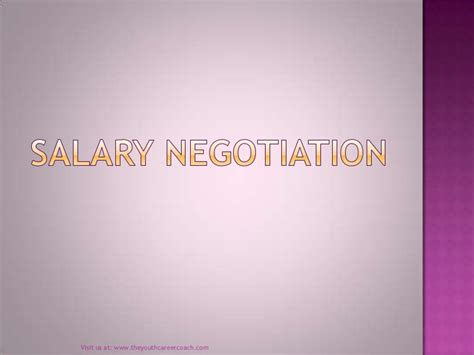 promotion and salary negotiation