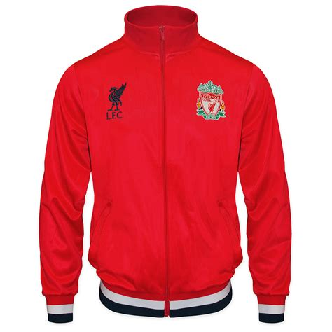 Jaket Treasked Liverpool liverpool football club official soccer gift mens retro track top jacket ebay
