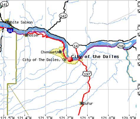 the dalles oregon map city of the dalles oregon or 97058 profile population