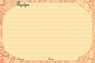 Recipes Card Templates Blank Recipe Cards Images