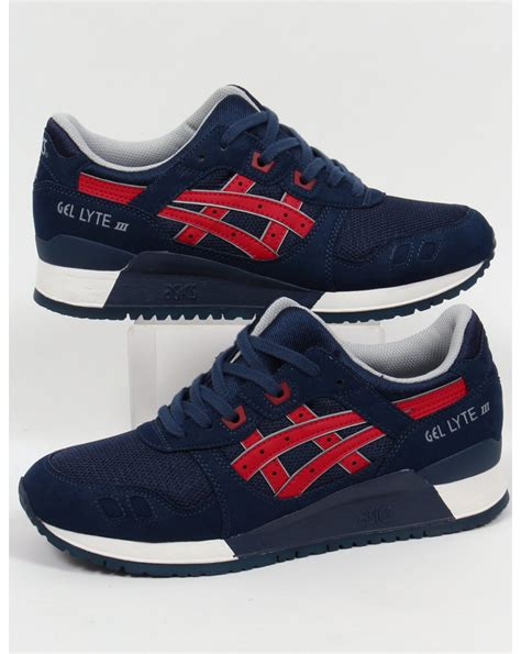 Asics Gellyte Iii asics gel lyte iii trainers navy 3 shoes runners sneakers