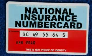 National Insurance Letters Years Story Ore Social Security Number Uk