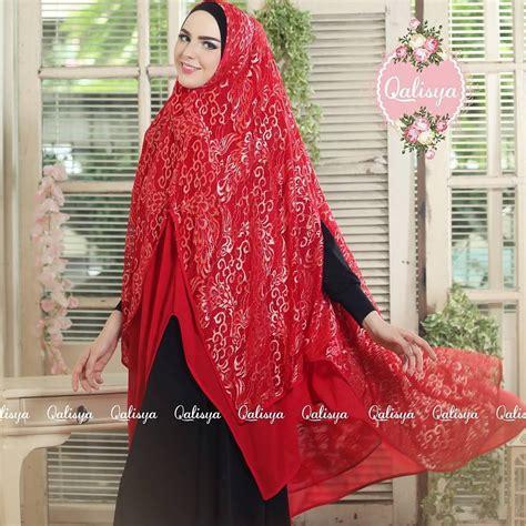 tutorial hijab pesta bahan ceruti khimar alani ori qalisya hijab bahan ceruti brokat