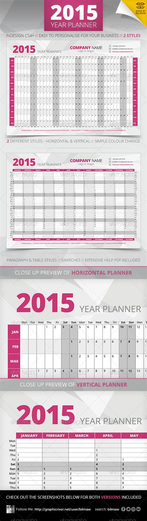 calendar templates for photoshop cs6 print template graphicriver year wall planner 3176349