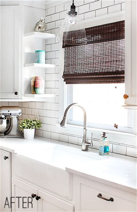 white kitchen subway tile room decorating before and after makeovers