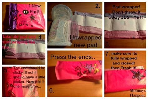 how to your to use pads teaching your about monthly maintenance
