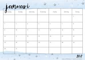 Kalender 2018 Januari Februari Free Printable Kalender Voor 2017 Hip Blogazine