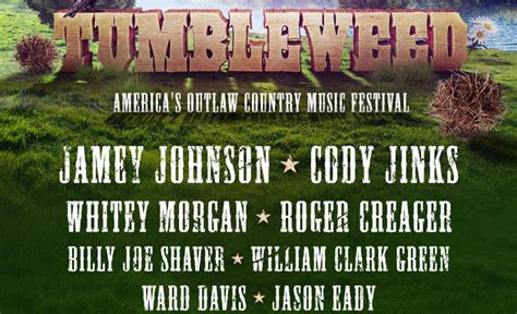country fan fest 2017 lineup tumbleweed festival announces jaw dropping outlaw country