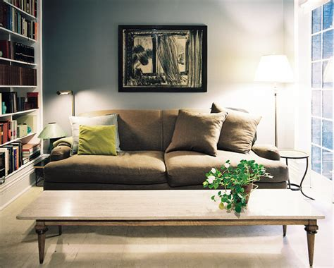 grey walls tan couch brown couch coffee end tables photos design ideas