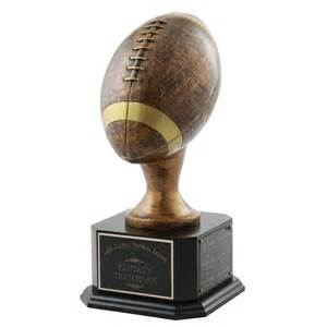 Bbq Backyard Wedding Jumbo Bronze Perpetual Football Trophy