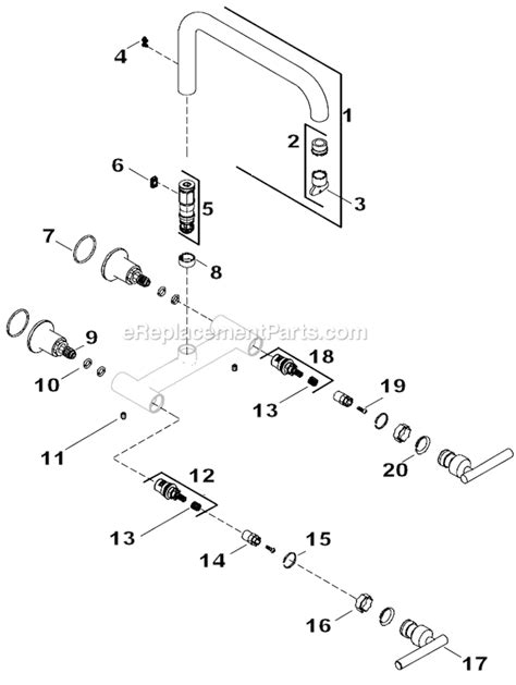 kohler k 7549 4 parts list and diagram ereplacementparts
