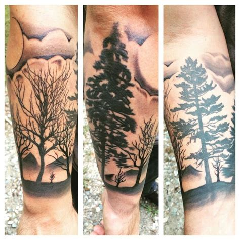 forrest tattoo forrest half sleeve tattoos