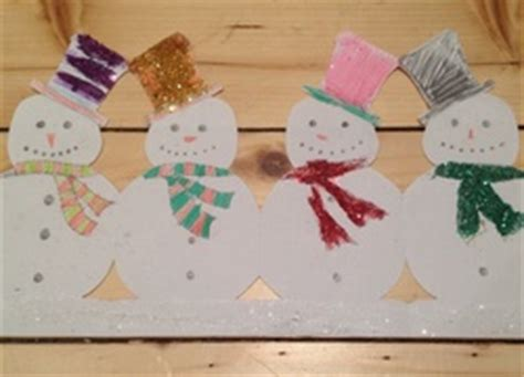 How To Make Paper Snowman Chain - craft ideas my kid craft
