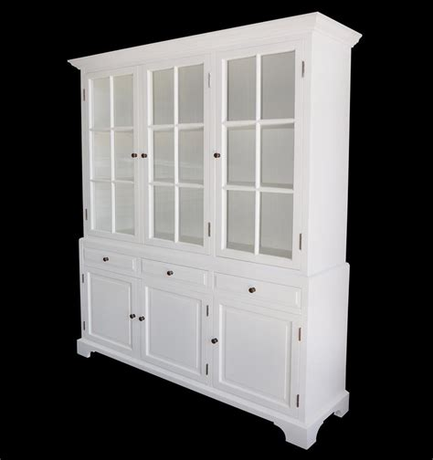 French Provincial Hamptons Buffet and Hutch Glass Display