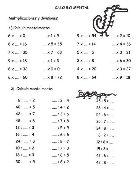 calculo mental calculo mental en primaria