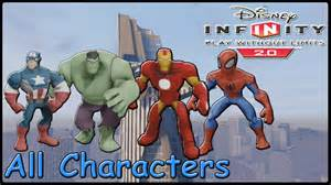 Disney Infinity 2 0 All Characters Disney Infinity 2 0 Marvel Heroes All Characters