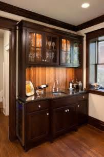 Bar Kitchen Cabinets Campbell Craftsman Bar Cabinet Traditional Kitchen